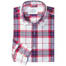 Van Laack Royk Sport Shirt - Long Sleeve (For Men) in Red/Black/Blue/White Plaid - Closeouts