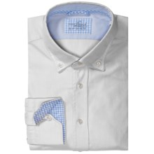 Van Laack Royk Sport Shirt - Long Sleeve (For Men) in White Solid - Closeouts