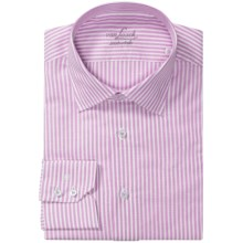 Van Laack Set Shirt - Tailor Fit, Cotton-Linen, Long Sleeve (For Men) in Pink/White Stripe - Closeouts