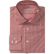 Van Laack Set StripeShirt - Tailor Fit, Cotton-Linen, Long Sleeve (For Men) in Red/White Stripe - Closeouts