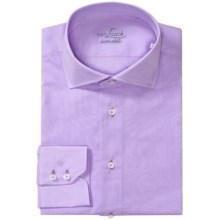 Van Laack Sivara Cotton Shirt - Spread Collar, Long Sleeve (For Men) in Lilac Solid - Closeouts