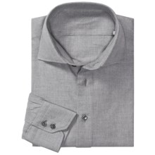 Van Laack Tailored Fit Fashion Shirt - Long Sleeve (For Men) in Grey - Closeouts