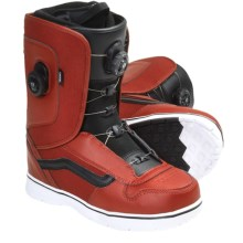 Vans Aura Snowboard Boots - BOA® (For Men) in Red/Black - Closeouts