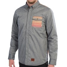 Vans Santa Fe Mountain Edition Shirt Jacket - Insulated  (For Men) in Navy - Closeouts