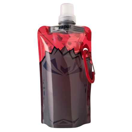 Vapur Quenchers Collapsible Water Bottle - BPA-Free, 14 fl.oz. in Black/Red - Closeouts