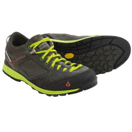 Vasque Grand Traverse Trail Shoes (For Men) in Beluga/Lime Green - Closeouts