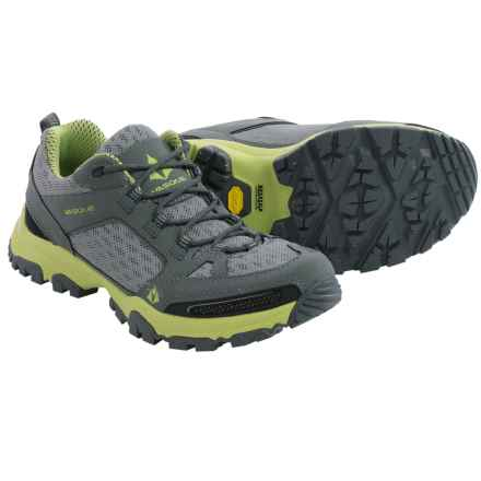 Vasque Inhaler Low Trail Shoes (For Women) in Gargoyle/Green Glow - Closeouts