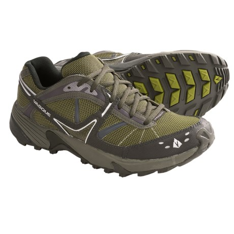 Vasque Mindbender Trail Running Shoes (For Men) in Jet Black/Old Gold
