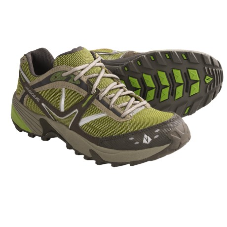 Vasque Mindbender Trail Running Shoes (For Women) in Major Brown/Herbal Green