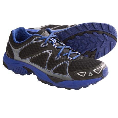 Vasque Pendulum Trail Running Shoes (For Men) in Jet Black/Sodalite Blue