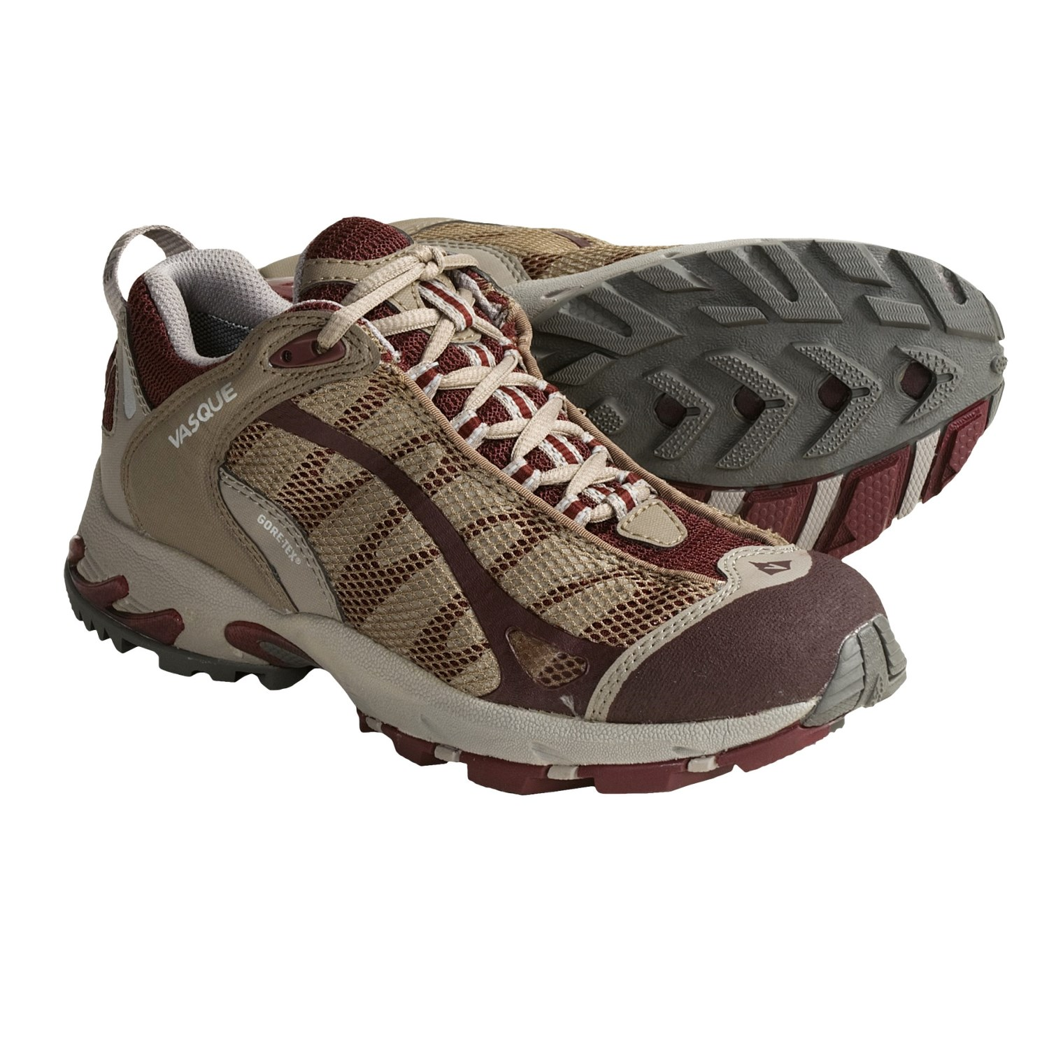 Tex^ Trail Running Shoes - Waterproof (For Women) in Andorra/Fossil