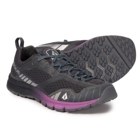 6110968a3bb24 Vasque Vertical Velocity Trail Running Shoes (For Women) in Ebony/Wild Aster