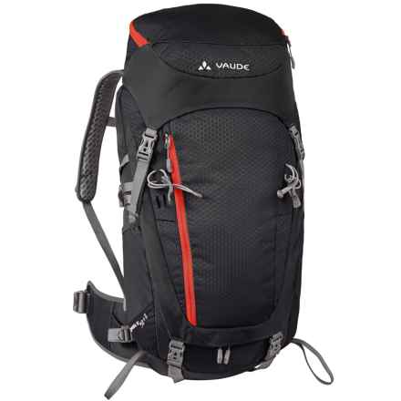 Vaude Asymmetric 42+8 Backpack - Internal Frame in Black - Closeouts