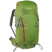 Vaude Asymmetric 42+8 Backpack - Internal Frame in Green Pepper - Closeouts