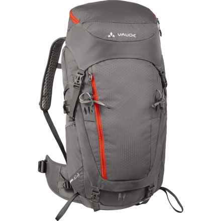 Vaude Asymmetric 42+8 Backpack - Internal Frame in Pebbles - Closeouts