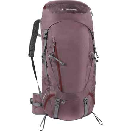 Vaude Asymmetric 48+8 Backpack - Internal Frame (For Women) in Erica - Closeouts