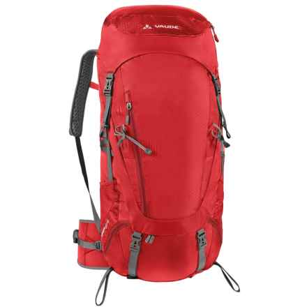 Vaude Asymmetric 48+8 Backpack - Internal Frame (For Women) in Red - Closeouts