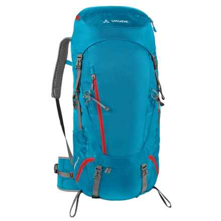 Vaude Asymmetric 48+8 Backpack - Internal Frame (For Women) in Teal Blue - Closeouts