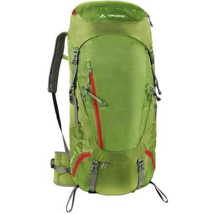 Vaude Asymmetric 52+8 Backpack in Green Pepper - Closeouts