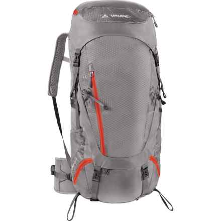 Vaude Asymmetric 52+8 Backpack in Pebbles - Closeouts
