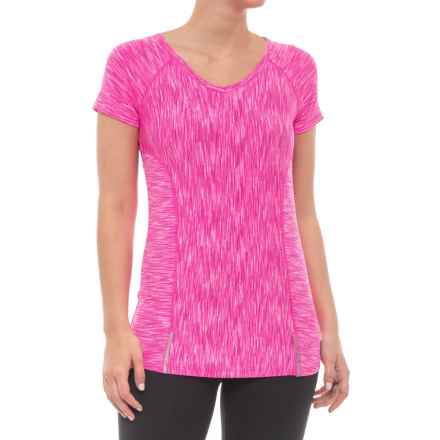 Velocity Missy Shirt - Short Sleeve (For Women) in Jumping Fuchsia - Closeouts