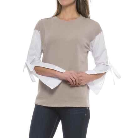 Velvet Heart Angela Sweatshirt (For Women) in Taupe - Closeouts