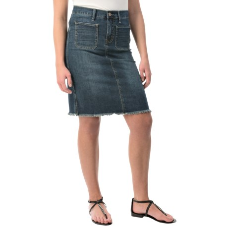 Velvet Heart Denim Skirt (For Women)