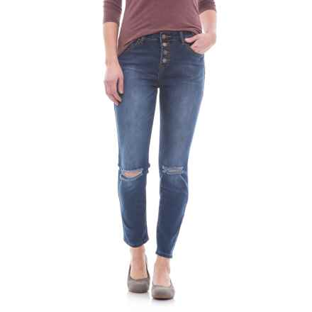 Velvet Heart Hallie Distressed Skinny Jeans - High Rise, Button Fly (For Women) in Rowland Heights - Closeouts