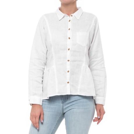 Velvet Heart High-Low Peplum Shirt - Long Sleeve (For Women)
