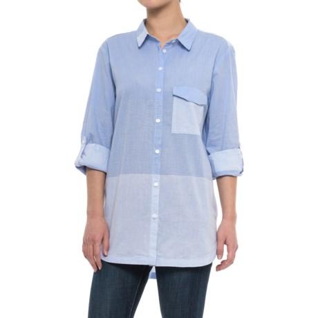 Velvet Heart Ivonna Shirt - Long Sleeve (For Women) in Blue White Stripe
