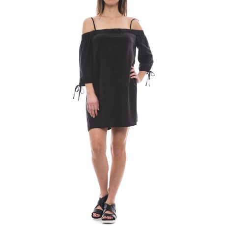 Velvet Heart Lolaine Off-the-Shoulder Shift Dress - Elbow Sleeve (For Women) in Black