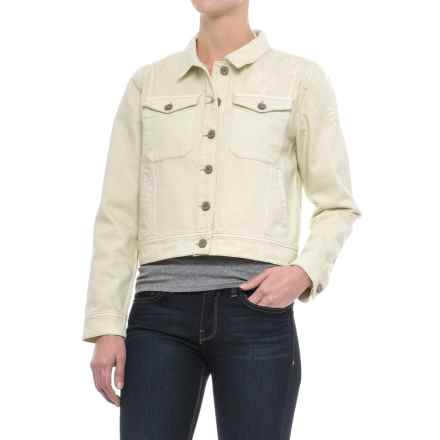 Rosetta Classic Denim Jacket (For Women) in Natural Embroidery - Closeouts