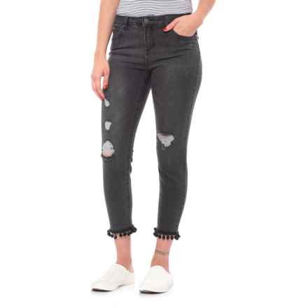 Skinny Crop Pom Pom Jeans (For Women) in Eureka/Pom Pom - Closeouts
