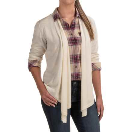 Venario Bella Cardigan Sweater - Merino Wool (For Women) in Ivory - Closeouts