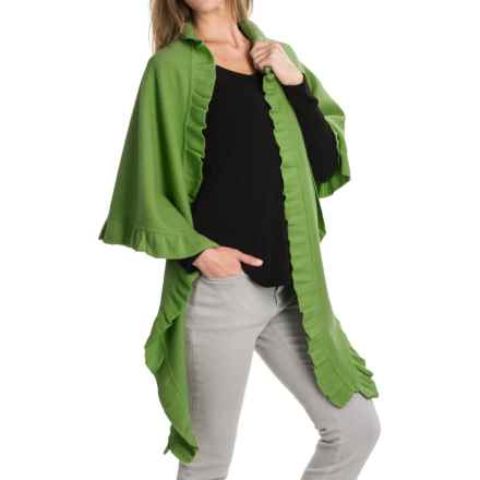 Venario Betty Shawl - Boiled Wool (For Women) in Green - Closeouts