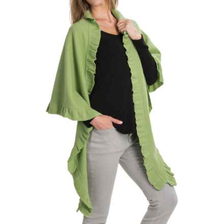 Venario Betty Shawl - Boiled Wool (For Women) in Lime - Closeouts