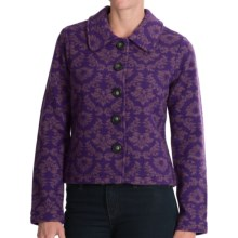 Venario Floral Wool Jacket (For Women) in Lilac - Closeouts