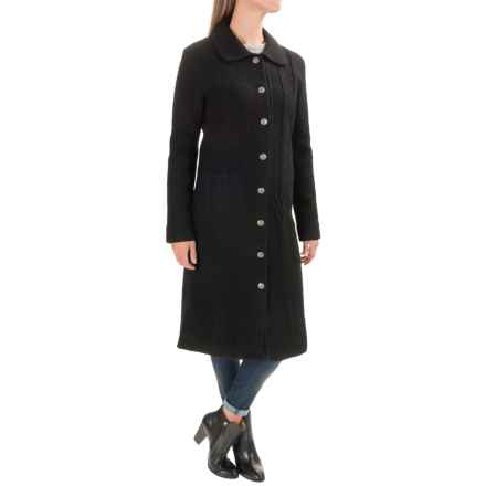 Venario Ilse Coat - Boiled Merino Wool (For Women) in Black - Closeouts