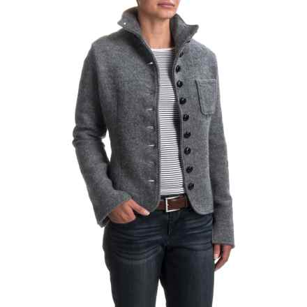 Venario Janet Boiled Wool Jacket (For Women) in Grey - Closeouts