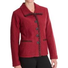 Venario Jordan Boiled Wool Coat (For Women) in Red - Closeouts