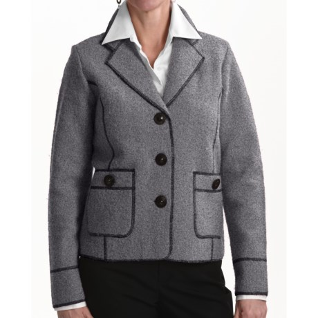 Venario Jude Jacket - Boiled Wool (For Women) in Grey