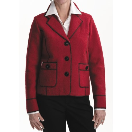 Venario Jude Jacket - Boiled Wool (For Women) in Red