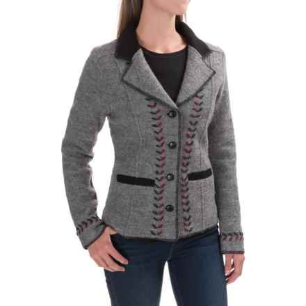 Venario Kyra Boiled Wool Jacket (For Women) in Grey - Closeouts