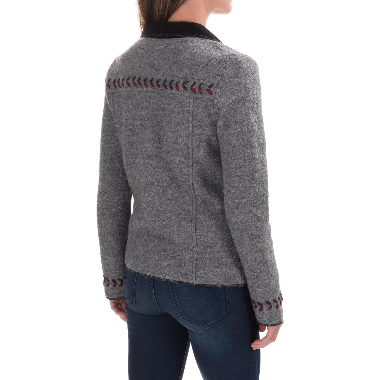Boiled wool jacket women