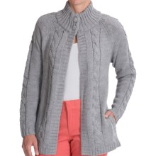 Venario Ruth Merino Wool Cardigan Sweater (For Women) in Grey - Closeouts
