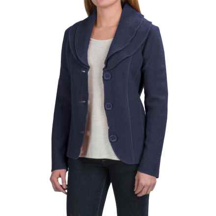 Venario Vera Jacket - Boiled Wool (For Women) in Navy - Closeouts