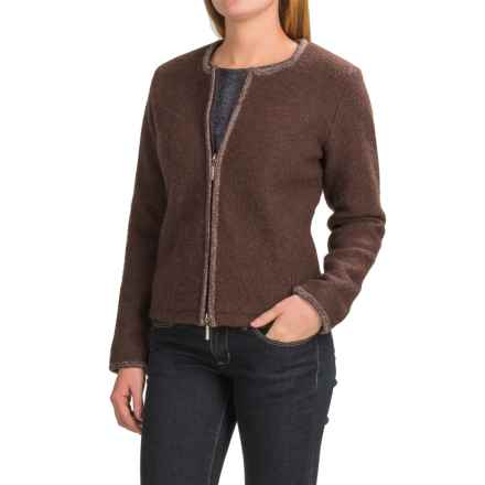Venario Zara Jacket - Boiled Wool (For Women) in Brown - Closeouts