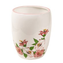 Vera Camillia Collection Wastebasket in White/Pink - Closeouts