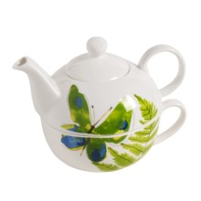 Vera Papillion Dream Tea-for-One Teapot and Cup Set - 2-Piece in Butterfly - Closeouts