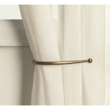 "Versailles 8"" Curtain Hold Backs - Pair in Antique Brass - Closeouts"
